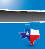 texas lonestar state blue ripped banner poster