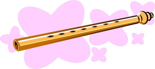Illustration of flutes in pink background