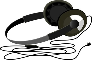 Illustration of a black colour headphone