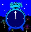 cartoon animated clock with background design