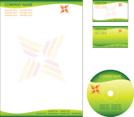 Letterhead, Business Card, Cd DVD template design