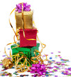 Gift boxes and gold ribbon