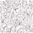 roleta: beauty seamless floral pattern