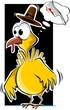 Illustration of a cartoon turkey fowl