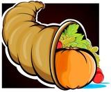 Illustration of a basket of vegetables
