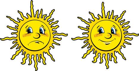 Emotional sun: sorrow and joy