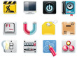 Vector universal square icons on white. Part 5