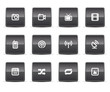 Simple icons isolated on white - Set  4