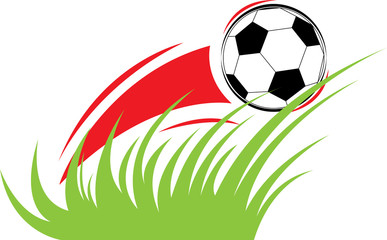 Vector composition on a football theme
