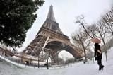 Fototapety Tour eiffel sous la neige