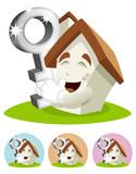 House Cartoon Mascot - key poster