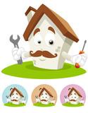 House Cartoon Mascot - mechanic poster
