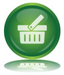 BASKET Web Button (Add Shop Shopping Commerce Cart Green Vector)