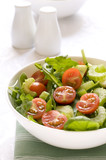 Fresh Cherry Tomato and Green leafy salad in a bowl