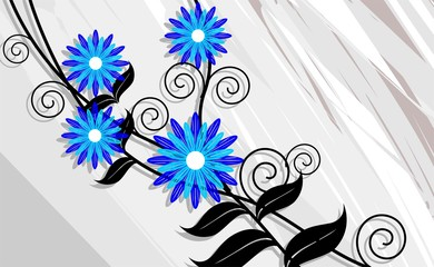 Illustration of arts background with flower