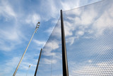 Backstop Net and Lights at Baseball Field