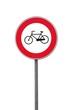 Segnale di divieto di transito alle biciclette