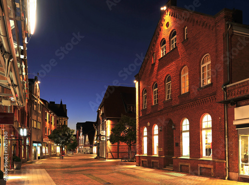 Leinwanddruck Bild Das alte Rathaus in Neustadt am Rübenberge
