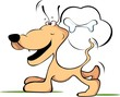 Illustration of comic  dog laughing