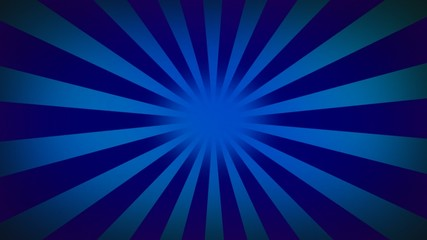 Blue sunburst looped - Radial rays looped background