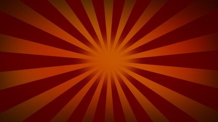 Red sunburst looped - Radial rays looped background