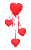 Plush hearts poster