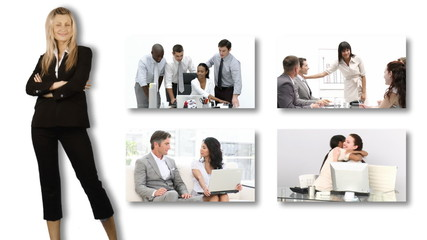 Young Business woman working in office environmen