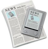 ebook reader newspaper horizontal poster
