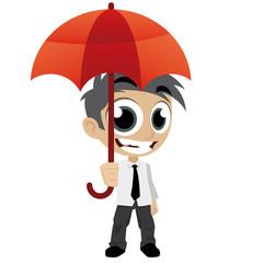 man parapluie