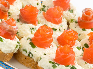Sandwiches with smoked trout