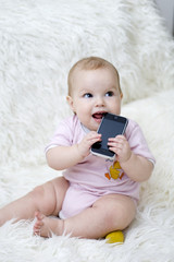 Toddler and phone