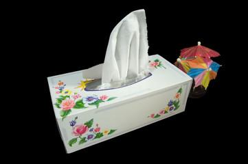 A box of white napkins