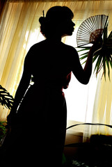 shadow-figure of oriental woman