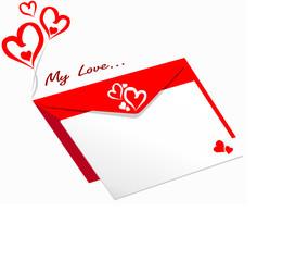 Valentine's Greeting Envelope
