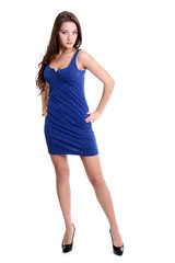 Full length of a beautiful young lady in  dress