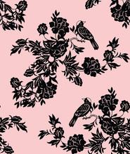 Oriental floral and bird patterns