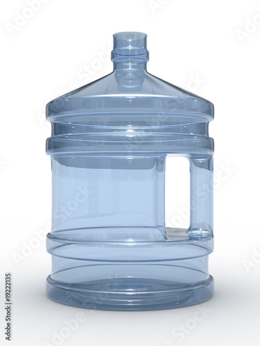Bottle on white background. Isolated 3D image