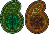 Paisley Design (can be used for Textile, Batik Print) poster