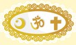 Illustration of religious symbols