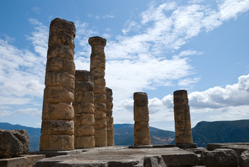 The temple of Apollo in Delphi, Greece