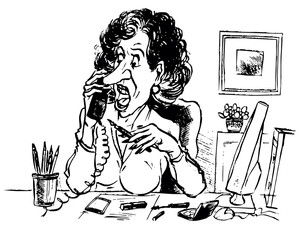 Business lady talking by phone