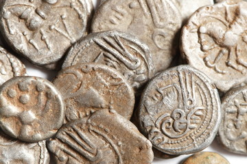 antique silver gaul coins