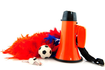Supporting Dutch soccer team