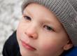 Closeup of Little Boy's Face in Winter