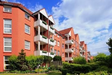 Wohnhaus, Mehrfamilienhaus, Balkone, Deutschland