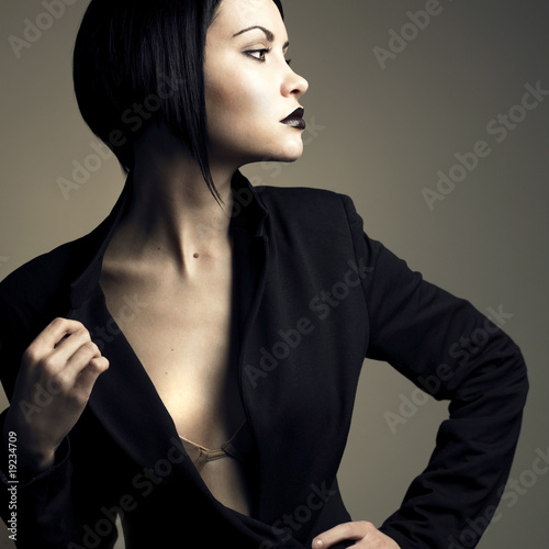 Portrait of beautiful stylish lady