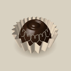 Chocolate candy 3D