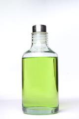 bote de gel verde