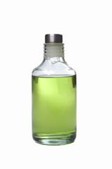 bote de gel verde aislado sobre fondo blanco