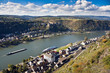 Upper Middle Rhine Valley near St. Goarshausen